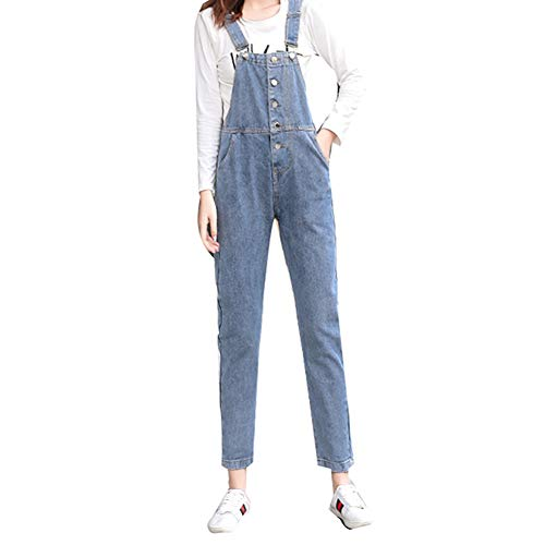 SXXRZA Overall met zakken, damesmode lantaarn casual jeanoveralloverall sexy lange overall