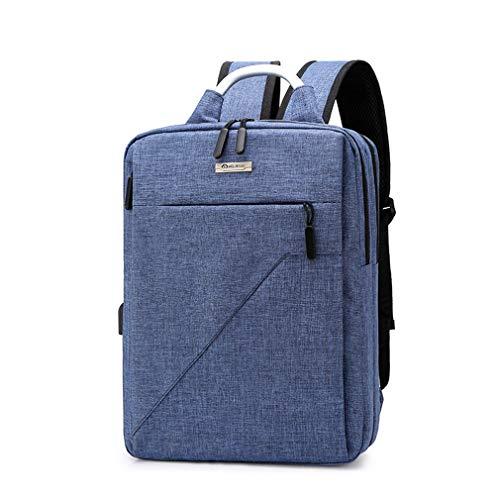 Sac à dos pour ordinateur portable résistant à l'eau, sac d'ordinateur de sac à dos de sac à dos de sac à dos de voyage d'université de voyage de 15 pouces avec le port de remplissage d'USB,Blue