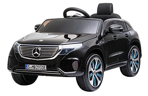 DAKOTT Mercedes Benz EQC 400 4Matic Crossover Ride On SUV for Kids, Black, Large
