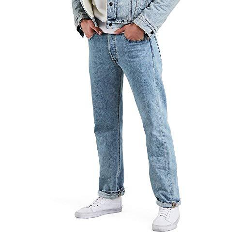 Levi's Men's 501 Original Fit Jeans, Light Stonewash, 34W x 32L