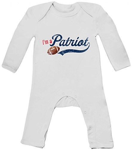 I'm a Patriot #1 Babybody American Football Super Bowl Pats, Farbe:Weiß (White BZ13);Größe:3-6 Monate