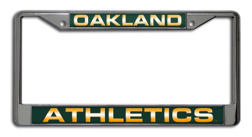 Rico Industries MLB Oakland Athletics Laser-Cut Chrome Auto License Plate Frame