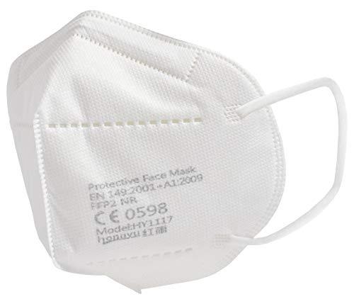 Premium Mundschutz Atemschutzmasken zertifizierte FFP2 Masken Infektionsschutz Gesichtsmaske Staubschutz Schutzmaske (20 Stück)