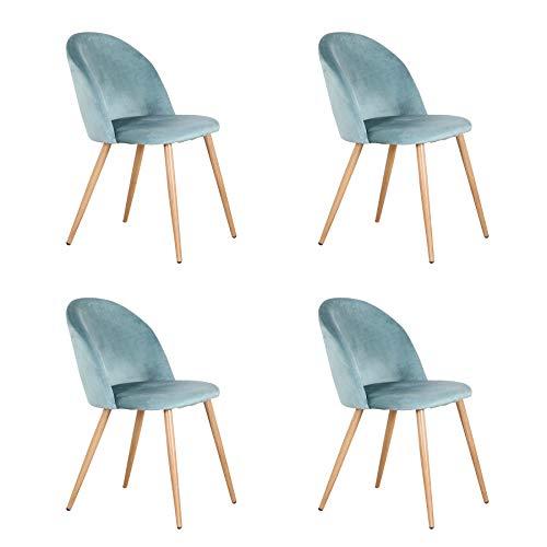 Pack de 2/4/6 sillas de Comedor ,Cojines de Terciopelo Suave Asiento,Sillas de Cocina para Comedor y Sala de Estar...
