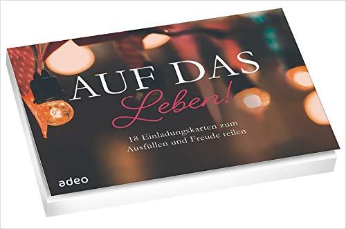 Auf das Leben. - Postkartenset: 18 Einladungskarten zum Ausfüllen und Freude teilen.