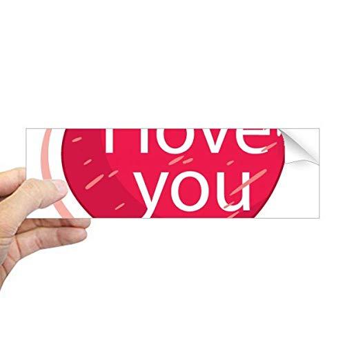Valentijnsdag Roze Ik hou van U Ballon Rechthoek Bumper Sticker Notebook Window Decal