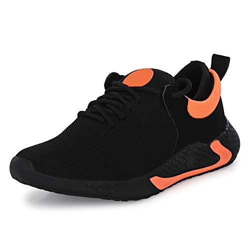 BODAM Men's Mesh Black Running Walking Jogging Gym Sports Shoes UK 8
