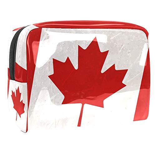 Bolsa de cosméticos para Mujeres Maple Flag Canada Bolsas de Maquillaje espaciosas Neceser de Viaje Organizador de Accesorios