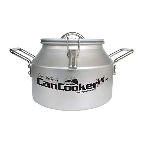 CanCooker Junior Portable Steam Cooker & Food Steamer for Campfire Cooking, Travel, RV & Tailgating | Includes Steamer for Cooking, Lid, Travel Bag & Recipe Book