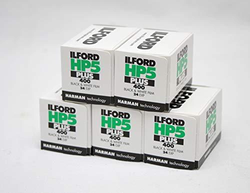 Ilford hp5 + Negro y Blanco de la película, 24 exp, Multipack de 5