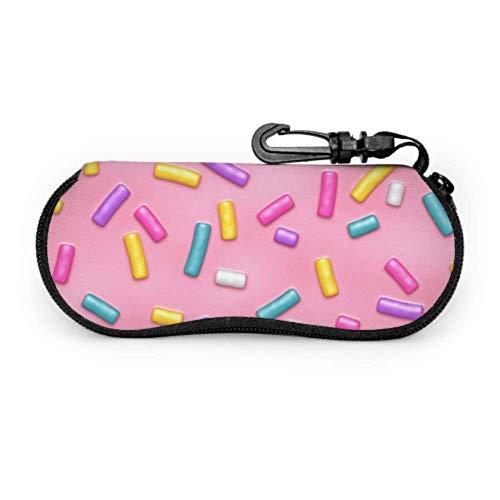 Patrón sin costuras Pink Donut Glaze Muchas fundas de gafas divertidas para gafas de sol Mujeres Estuche blando portátil ligero Estuche simple para gafas