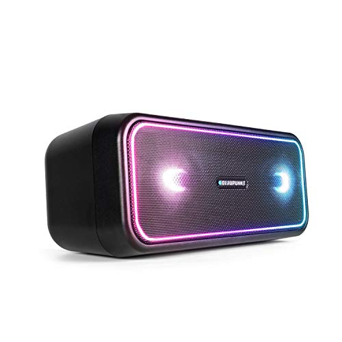 BLAUPUNKT Bluetooth Party Lautsprecher PS 200, TWS Lautsprecher, Bluetooth 4.2, AUX-IN, Party-Speaker mit Mehrfarbige LED Beleuchtung, Integrierter Akku in schwarz