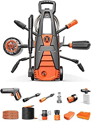 Electric Pressure Car Power Washer With Hose Hook And Adjustable Nozzles(1400W 75bar 100bar) dljyy from dljxx