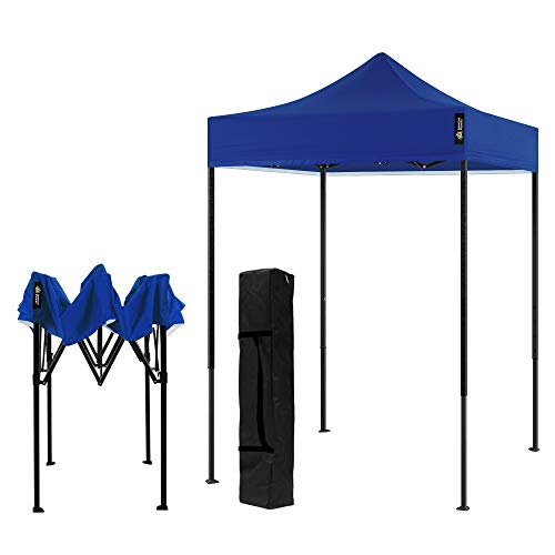 AMERICAN PHOENIX Canopy Tent 5x5 Pop Up Portable Tent Commercial Outdoor Beach Instant Sun Shelter (Blue)