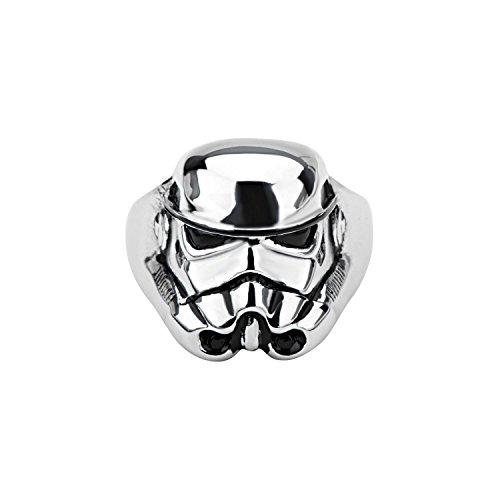 Star Wars: Casco Stormtrooper 3D in acciaio inox 316, Bin 60 e Acciaio inossidabile, 17, cod. BDV82008-s8.0