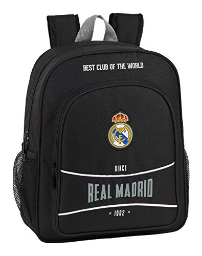 safta 612024640 Mochila Junior niño Adaptable Carro Real Madrid CF, Negro