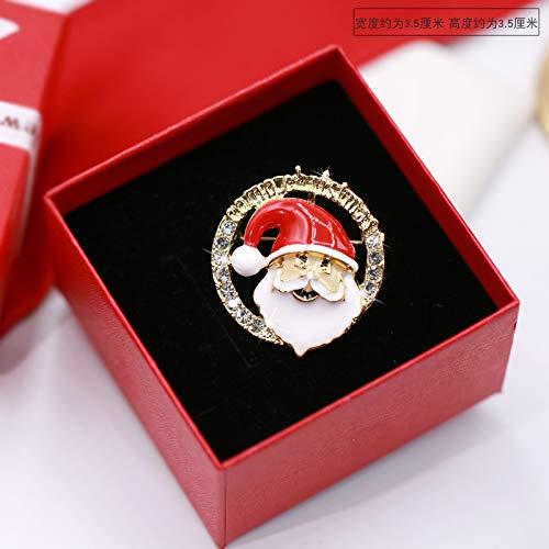 Kerstmis Broche Korea Santa Sweater Jas Pin Nieuwjaar Gift Sjaal Gesp Met Accessoires 4 * 3Cm No. 2 brooch (without box)