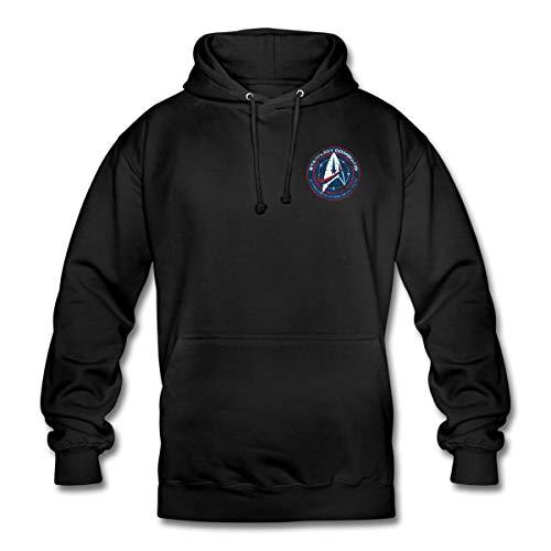 Star Trek Discovery Emblème Starfleet Poitrine Sweat-Shirt à Capuche Unisexe, 3XL, Noir