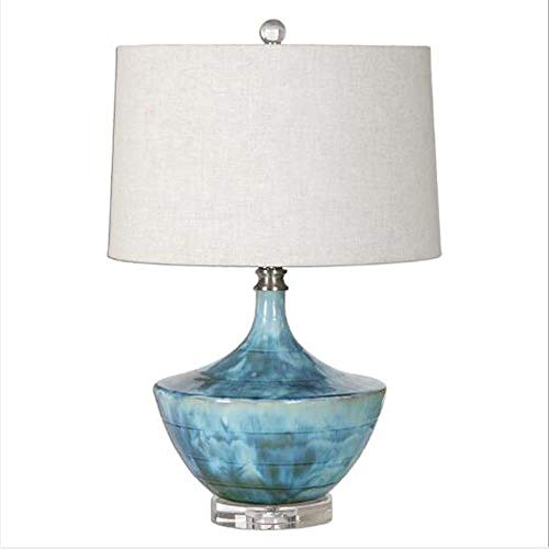 FAGavin Lámpara de mesa de cerámica creativa para hotel, sala de estar, dormitorio, mesita de noche