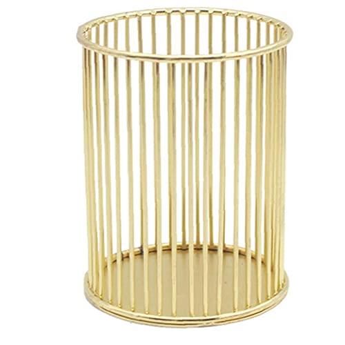 Maquillage brosse de stockage godet creux cylindre titulaire de la papeterie cosmétique organisateur l style doré