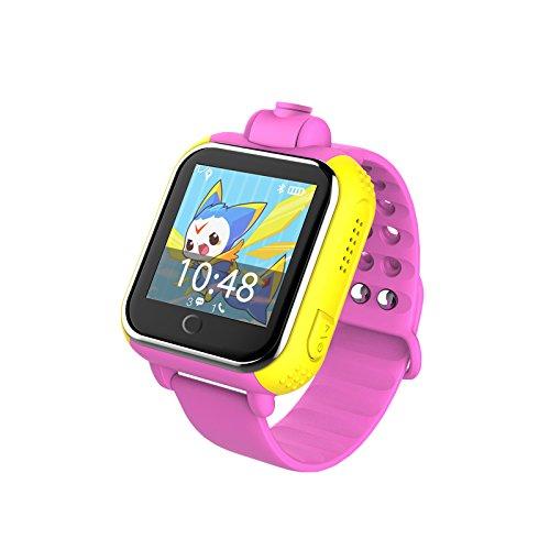 HSW Reloj inteligente de los niños reloj de pulsera 3G GPRS GPS Localizador Tracker Anti-Perdido Smartwatch Bebé Regalos Reloj con Cámara Para IOS Android, HSW-Q730, Q730-Rosa