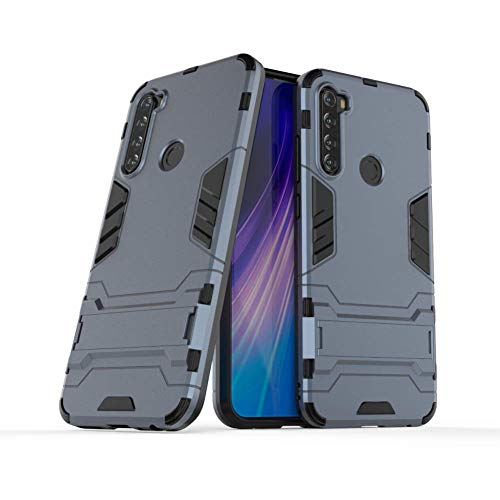 Case for Xiaomi Redmi Note 8 DWaybox 2 in 1 Heavy Duty Armor Hard Back Case Cover with Kickstand Compatible with Xiaomi Redmi Note 8 6.3 Inch (Black Plus Gray)
