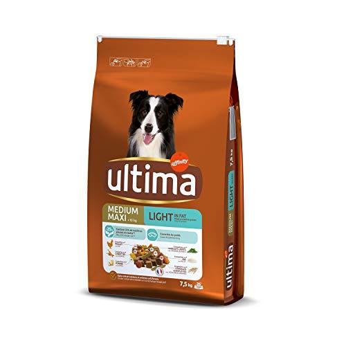 Ultima Croquettes pour Chien Medium-Maxi Light Poulet Riz, 7,5kg
