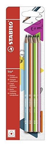 Matita in Grafite - STABILO Trio - Pack da 6 - Gradazione HB - Colori assortiti