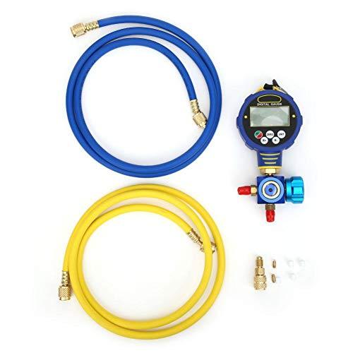 冷媒ゲージ,1 8インチ マニホールドテスター冷凍計、エアコン ガスチャージ マニホールドゲージ産業用NPT低圧-20℃〜60℃