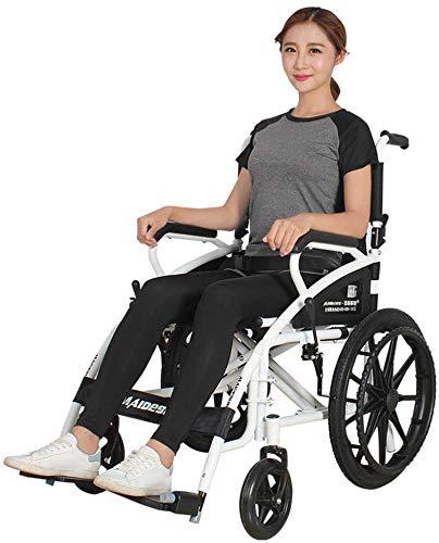 TYZXR - Cochecito de 17 kg, plegable, portátil, ultraligero, cómodos reposabrazos y patas de elevación para descansar 100 kg, cojinete de 46 x 41 cm, ancho del asiento de ruedas manual