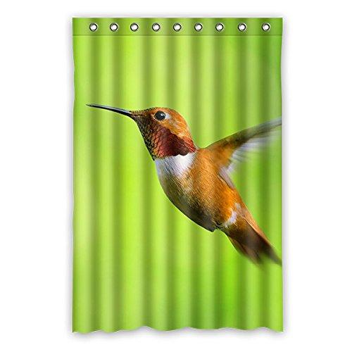 Gelb Kolibri Grüner Hintergr& Wasserdichtes Polyester Duschvorhang Badezimmer Dekorative 48