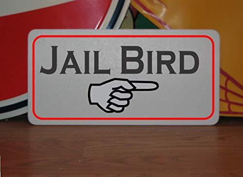 Toll2452 Cartel de metal con diseño de pájaro de la cárcel