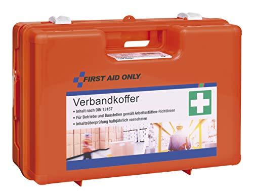 First Aid Only Verbandkoffer, Din 13157, Inklusive Transparenten Trennscheiben Und Abdeckklappen, Wandhalterung, Schrauben Und Dübeln, Orange, P-10016