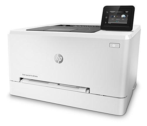 HP M254dw Laser Jet Pro - Impresora color (hasta 21 ppm, ethernet y Wi-Fi, pantalla táctil en color de 6.9 cm, 800 MHZ, inalámbrico, DDR de 128 MB, disco duro de 2 GB, Windows 7, 8, 8.1 y 10) blanco