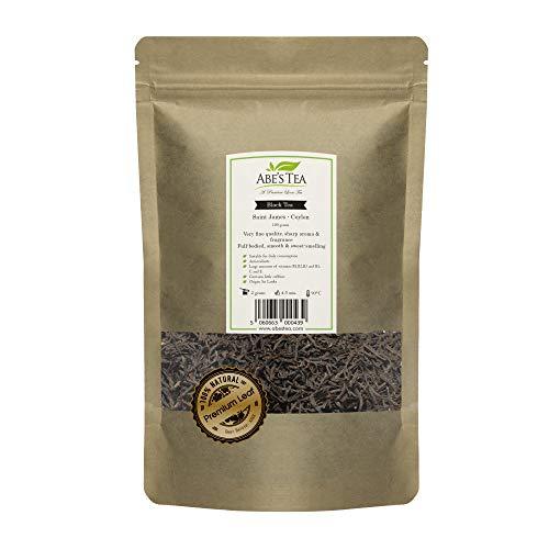 Abe's Tea | Tè Nero | tè in foglia | Ceylon San Giacomo | Sapore: Dolce Profumo | 200g (2 X 100 grammi) | Antiossidante | Ricco Di Vitamina B1, B2, B5, C Ed E | 100% Foglie Naturali Dallo Sri Lanka