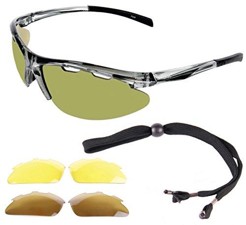Rapid Eyewear Fore Lunettes de soleil pour golf Verres opaques verts 13 x 13 x 4,5 cm