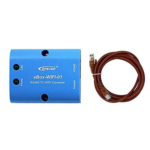 EPEVER WiFi Box für Solarregler - Fit EPEVER Solarladeregler MPPT - Drahtlose Überwachung der Kommunikation per Handy-APP (eBox WiFi 01)