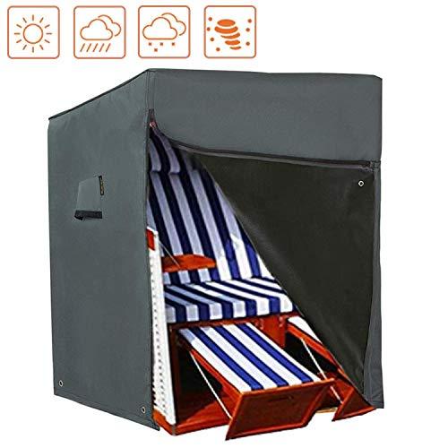 HENTEX Schutzhülle Strandkorb, Strandkorb Schutzhülle, Material mit aktiven Atmen Funktion, 150x100Dx140/165H cm