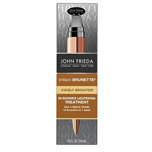 John Frieda Brilliant Brunette Visibly Brighter in Shower Lightening Treatment, 1.15 Fl Oz (Pack of 2)