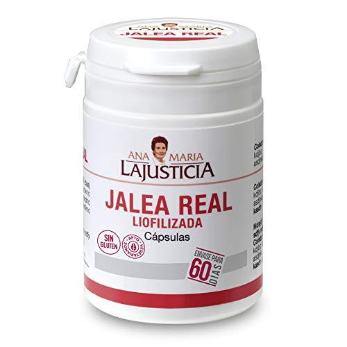 Ana Maria Lajusticia - Jalea real liofilizada – 60 cápsulas. Reduce el cansancio y la fatiga, refuerza el sistema inmunitario. Envase para 60 días de tratamiento.