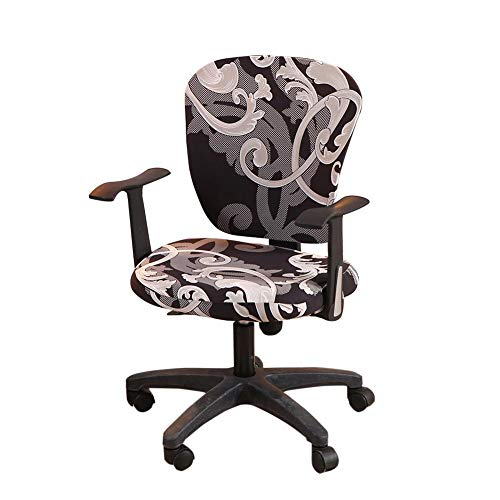 wonderfulwu Stretch Chair Covers Spandex Office Computer Chair Cover Removable Washable Rotate Swivel Chair Protective Covers (Royal Circle)
