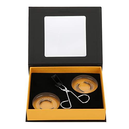 Pestañas magnéticas, juego de pestañas magnéticas 3D naturales Pestañas gruesas y duraderas reutilizables con clip Cosméticos de belleza Peso ligero y fácil de usar
