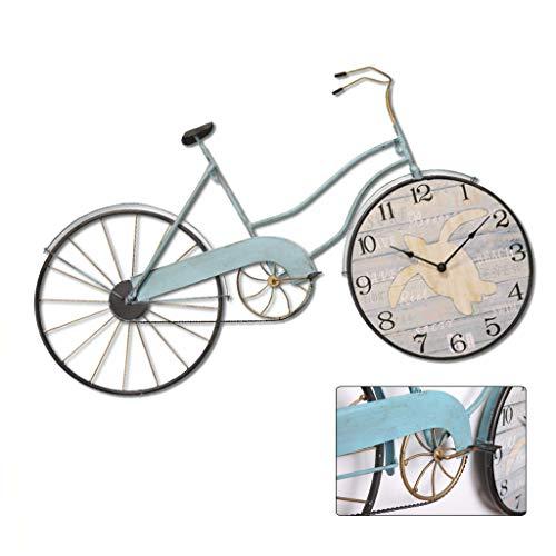 Schmiedeeisen Fahrrad Wanduhr, personalisierte Retro-Dekoration, stille Uhr, geeignet für Wohnzimmer, Bar, Schlafzimmer