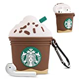 Bqmte Coffee Ice Cream Cartoon Case for Airpods 1& 2, Cute Funny 3D PatternKawaii Soft Fun Cool Full Protection Shockproof Charging Case Cover with Keychain for Kids Girls Boys Women Teens