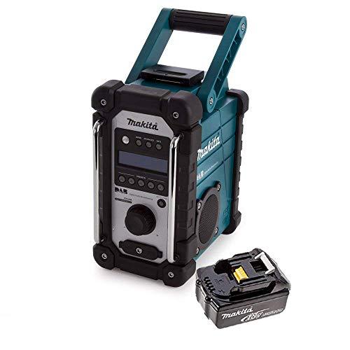 Makita DMR109 DAB 10.8v-18v LXT/CXT LI-ion Job Site Radio with 1 x 5.0Ah Battery