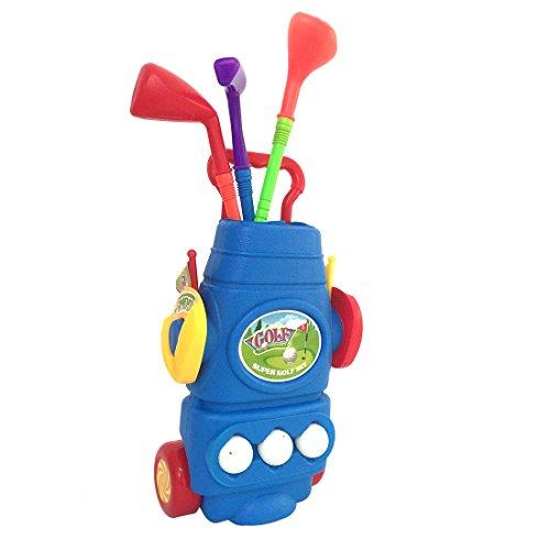 Golfschläger für Kinder, Anna Shop Golfschläger Minigolf Spielzeug Golfset Golfspiel Kinderspielzeug für 3-15 Jahre alt (Blau)
