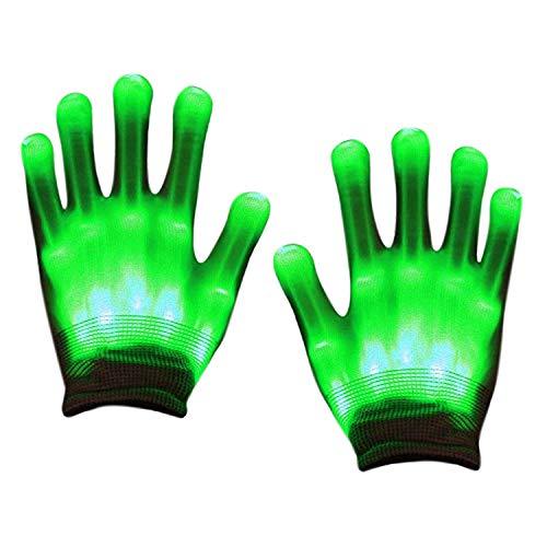 De feuilles Kinder LED Bunt Handschuhe leuchtende Karneval Handschuhe Geschenke Halloween Weihnachten Party Kostüm Zubehör
