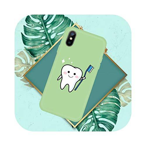 Divertido Dentista Dental, Dientes Coronados, Caramelo Color Caramelo para iPhone 11 12 Mini Pro XS MAX 8 7 6 6S Plus X SE 2020 XR-a7-iPhone11PROMAX