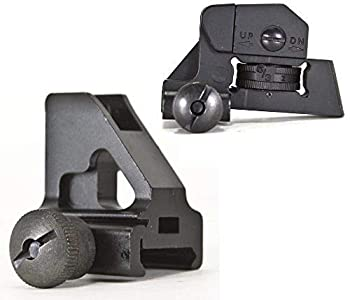 Green Blob Outdoors Iron Sights Match Grade Model Rear & Low Profile Standard Height Front Sight for Same Plane Flat Top Rails