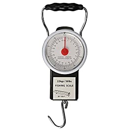 Goture Cadran Pêche Balance Digital Balance à Suspendre avec Ruban à mesurer (22,7kilogram/22kg)